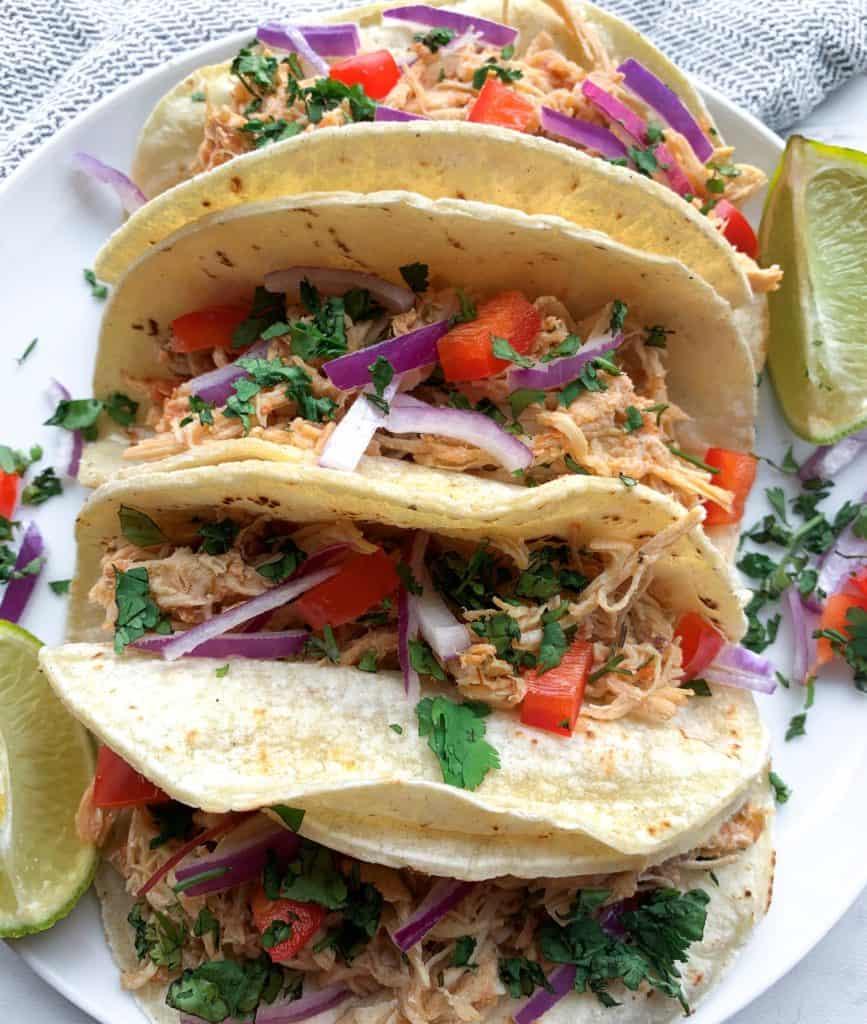 crockpot chicken salsa tacos