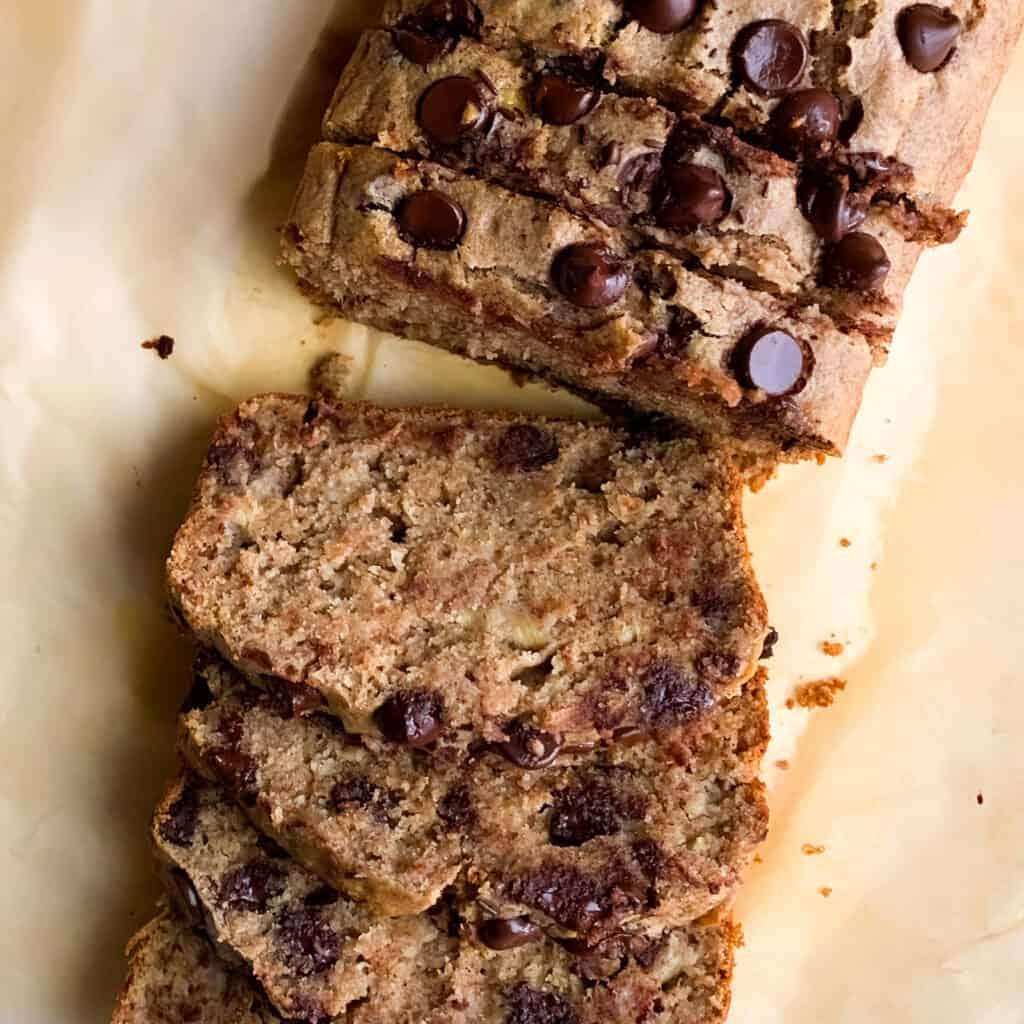 healthy blender chocolate chip banana bread