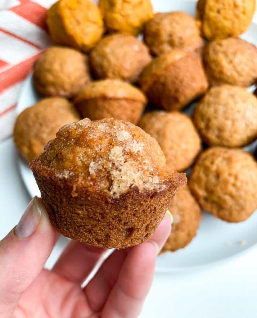 healthy cinnamon mini muffins