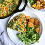 spinach mushroom and bacon frittata