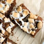 gooey gluten free s'mores blondies