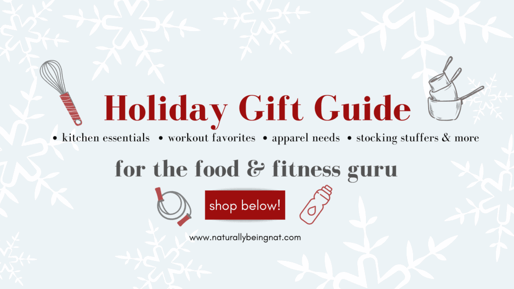 holiday gift guide for food and fitness gurus