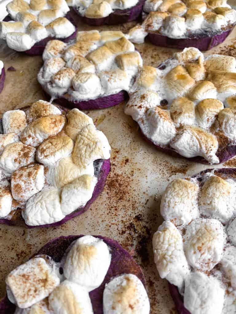 marshmallow sweet potato bites
