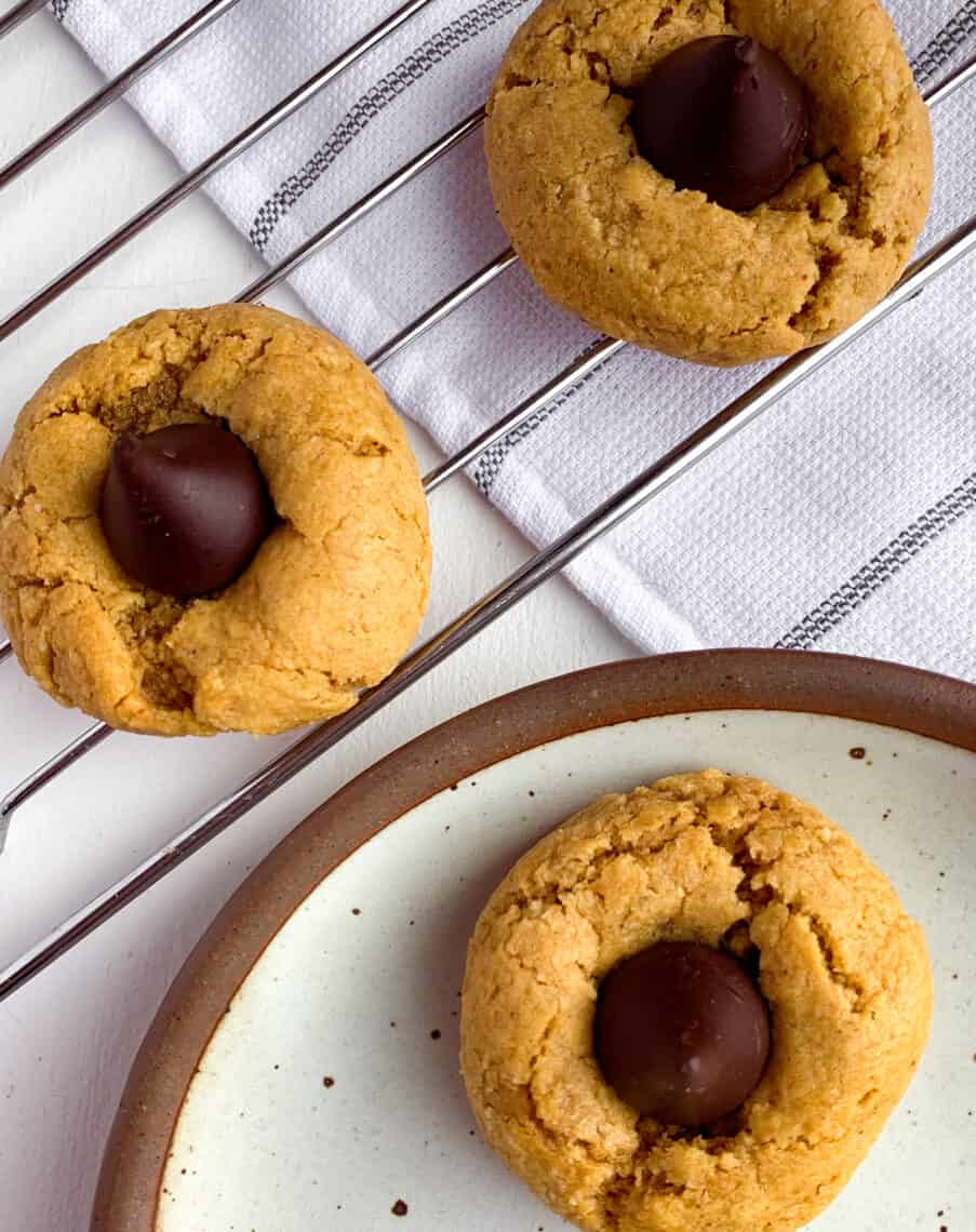 healthy peanut butter blossoms