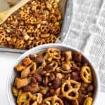 vegan and gluten free savory snack mix