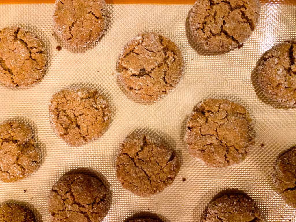 healthy soft baked gingersnap cookies