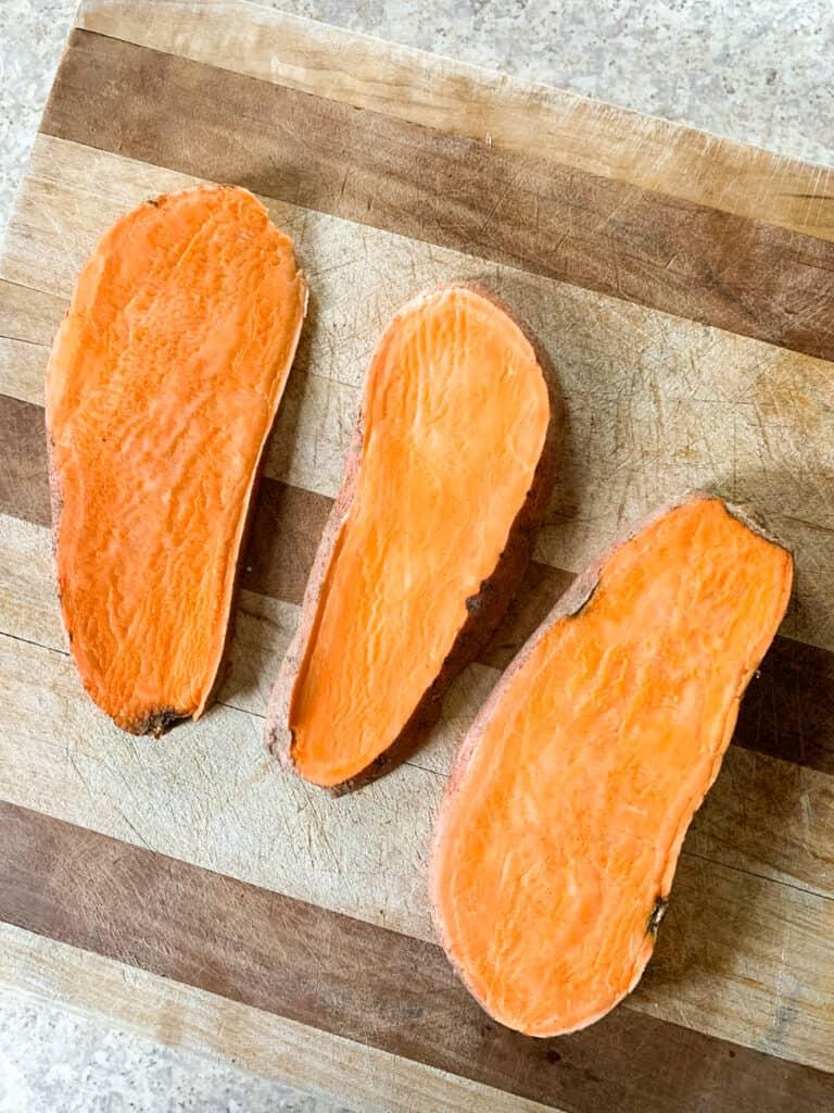 sweet potato toasts: 3 ways