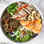 asian chicken cashew quinoa salad