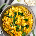 Coconut Chickpea Cauliflower Curry