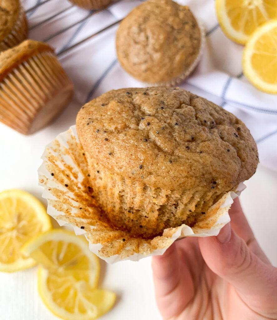 lemon poppy seed ricotta muffins