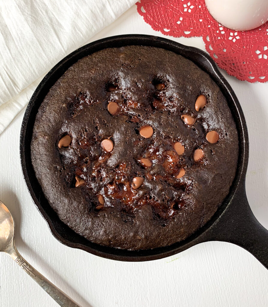 paleo brownie skillet for two
