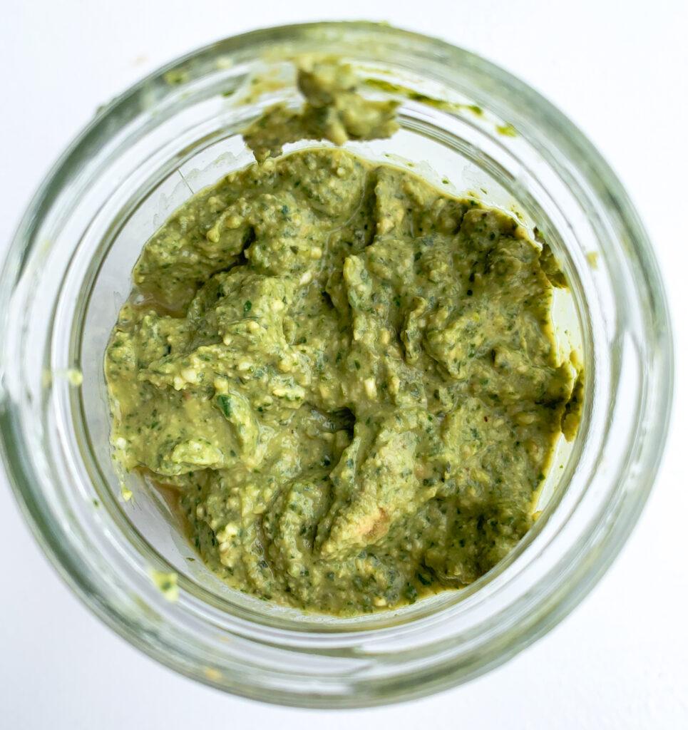 creamy vegan avocado pesto