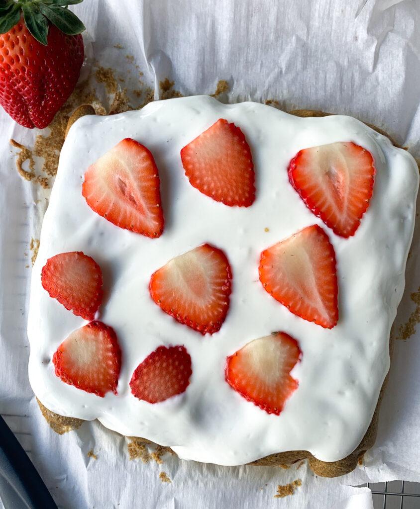 gluten free strawberry snack cake